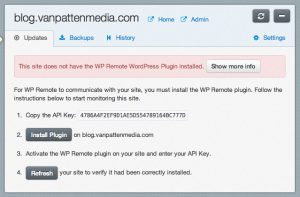 Install WP Remote to upgrade your WordPress sites smarter